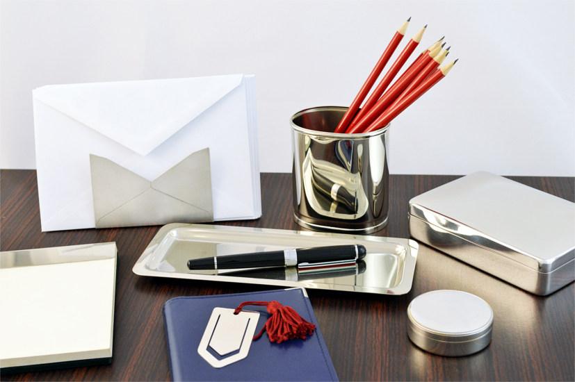 argenteria scrivania portabuste portapenne portamatite scatola segnalibro argento