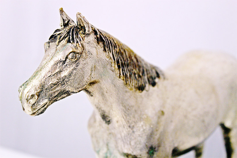 trofeo ippica cavallo argento