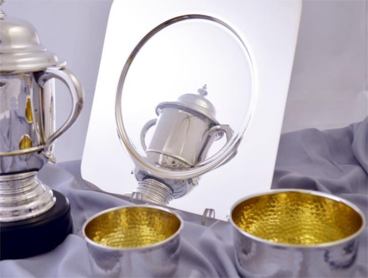 coppa sportiva vassoio ciotole argento