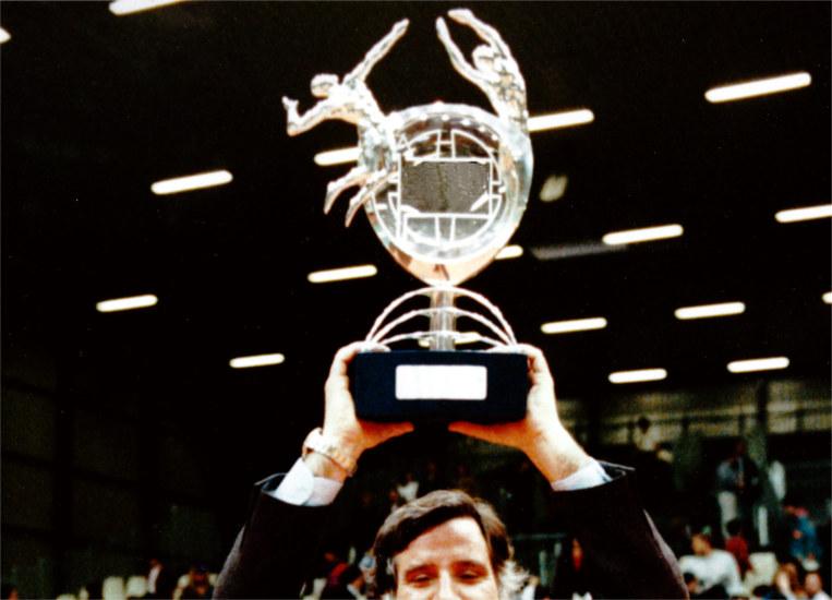 trofeo metallo per pallavolo design moderno
