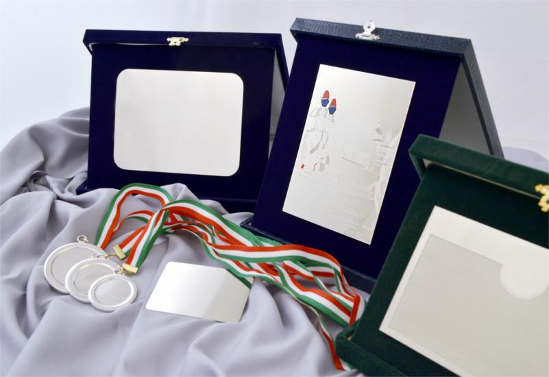 targhe medaglie e gadget in metallo per premiazioni